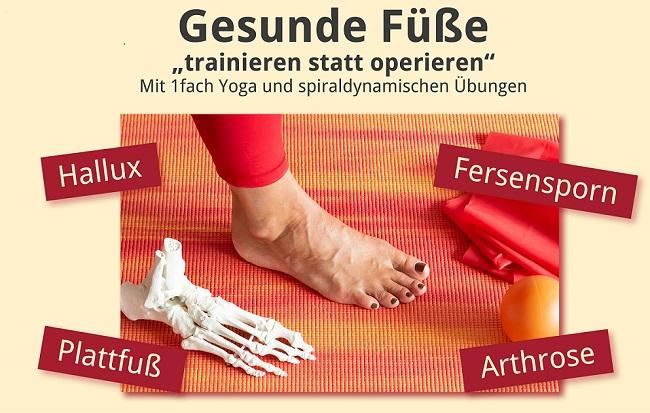 Trainieren statt operieren: Workshops bei 1fach Yoga für gesunde Füße