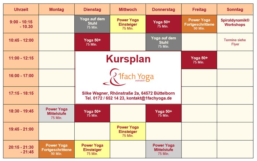 Yogakurse in Büttelborn bei 1fach Yoga